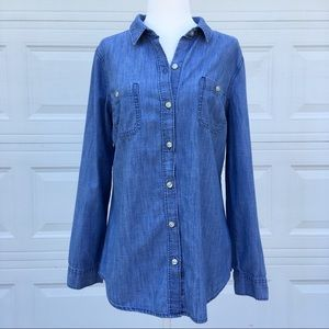 💙 Old Navy Long Sleeve Denim Blouse 💙